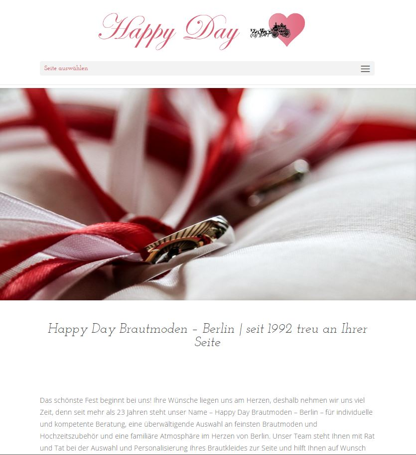 Happy Day Brautmoden Berlin responsive